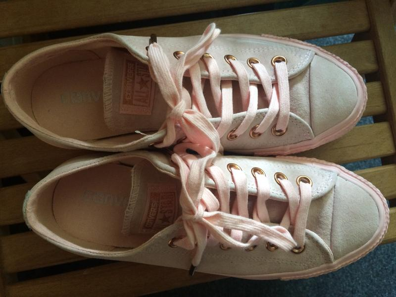 92bb0988d9eb Review photo 3. Originally posted on Converse All Star Low Leather Trainers  VAPOUR PINK MOUSE