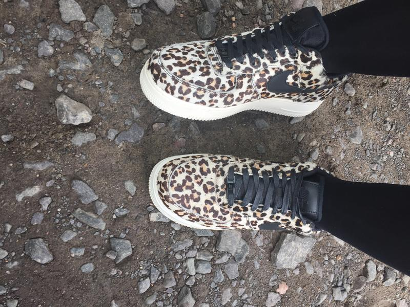 733131ac6198 Review photo 1. Originally posted on Nike Air Force 1 Lo SNOW LEOPARD BLACK  SAIL