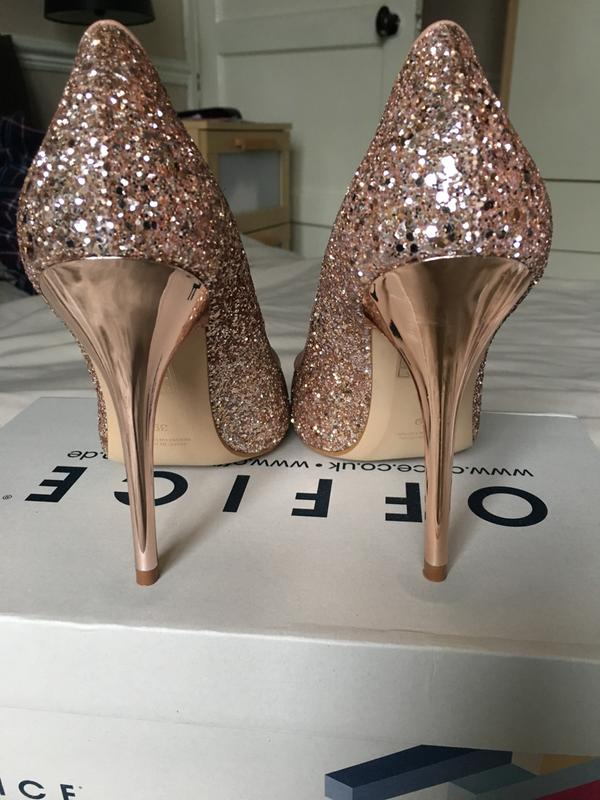 2dc32065f53 Office On To Point Court Heels Rose Gold Glitter - High Heels