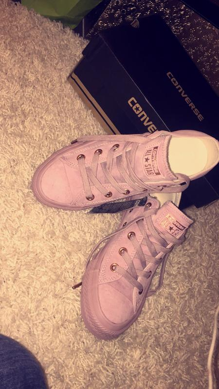 2a04675211f Review photo 2. Originally posted on Converse Allstar Low Lthr BURNISHED LILAC  ROSE GOLD