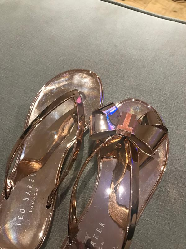 590926f6a4ea9 Review photo 2. Originally posted on Ted Baker Glamari Flip Flop ROSE GOLD