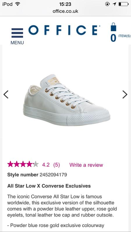 9cb879a3ecc5a2 Converse All Star Low Leather Powder Blue Rose Gold Exclusive ...