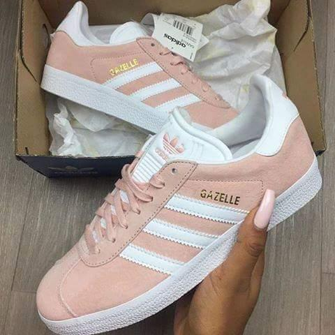 brand new e54db dbcba New trainers. Originally posted on Adidas Gazelle VAPOUR PINK WHITE