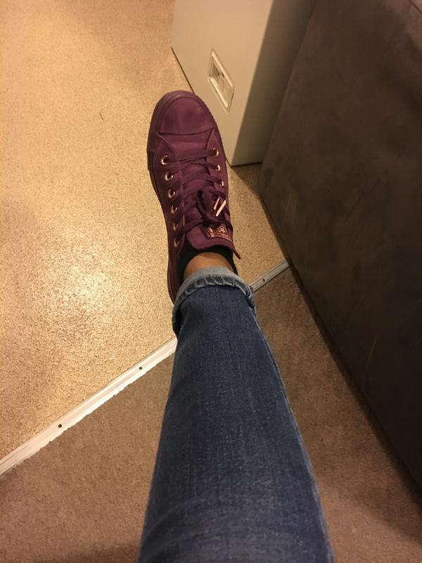 cddbda978bd4 Review photo 1. Originally posted on Converse All Star Low Leather DARK  SANGRIA ROSE GOLD EXCLUSIVE
