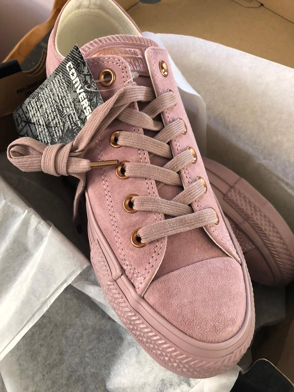 70b525c7038d Just beautiful! Originally posted on Converse Allstar Low Lthr BURNISHED  LILAC ROSE GOLD