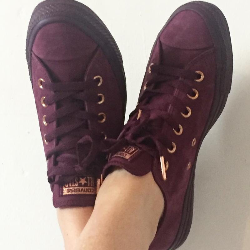 60e76486a4d0 Love of my life. Originally posted on Converse All Star Low Leather DARK  SANGRIA ROSE GOLD EXCLUSIVE