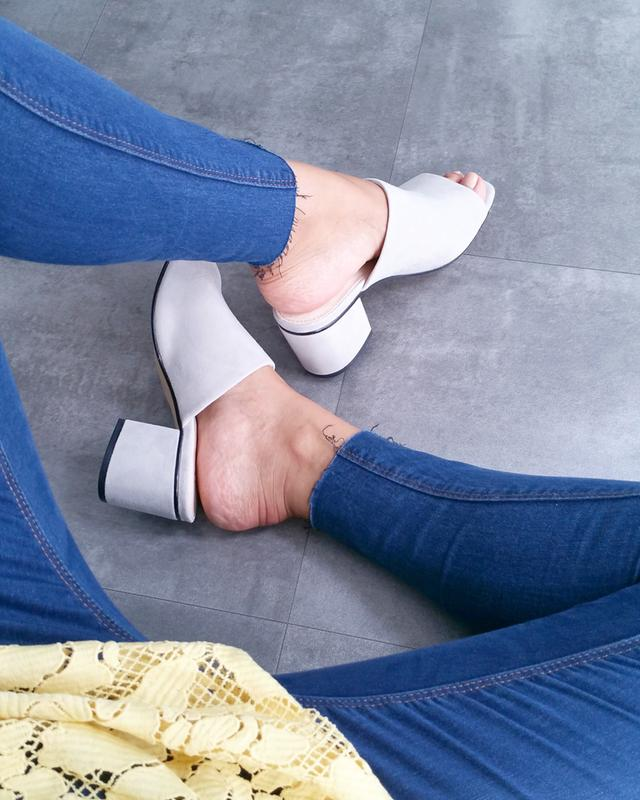 e71913fe6bc5 Office Madness Block Heel Mules Grey Suede - Mid Heels