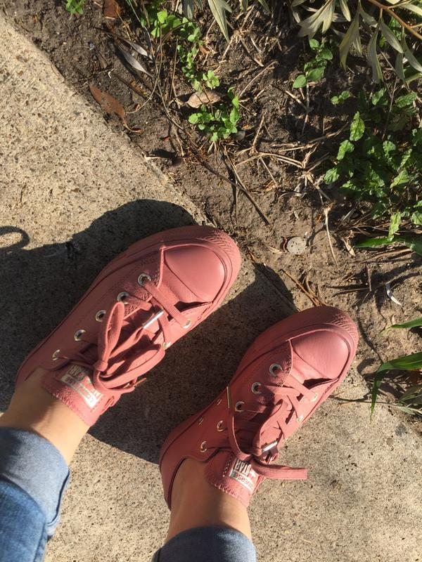 565c1d392bfe Review photo 5. Originally posted on Converse Allstar Low Lthr DESERT SAND  ...
