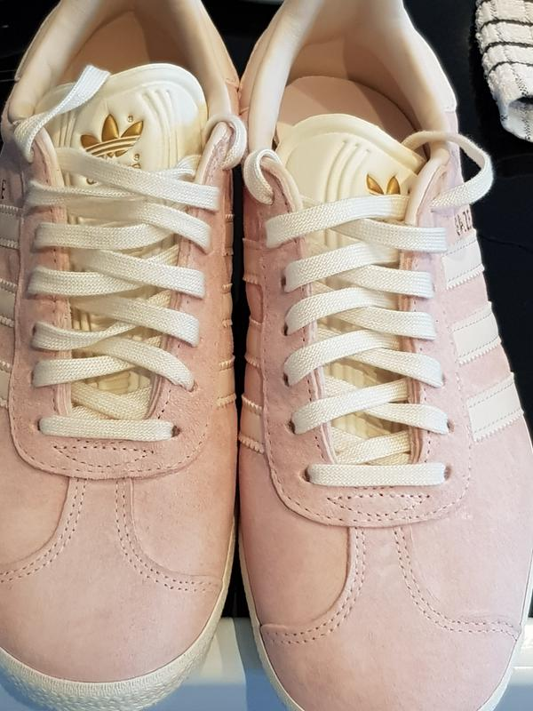 finest selection 3d341 7985c Review photo 1. Originally posted on Adidas Gazelle Trainers VAPOUR PINK  LINEN CREAM WHITE