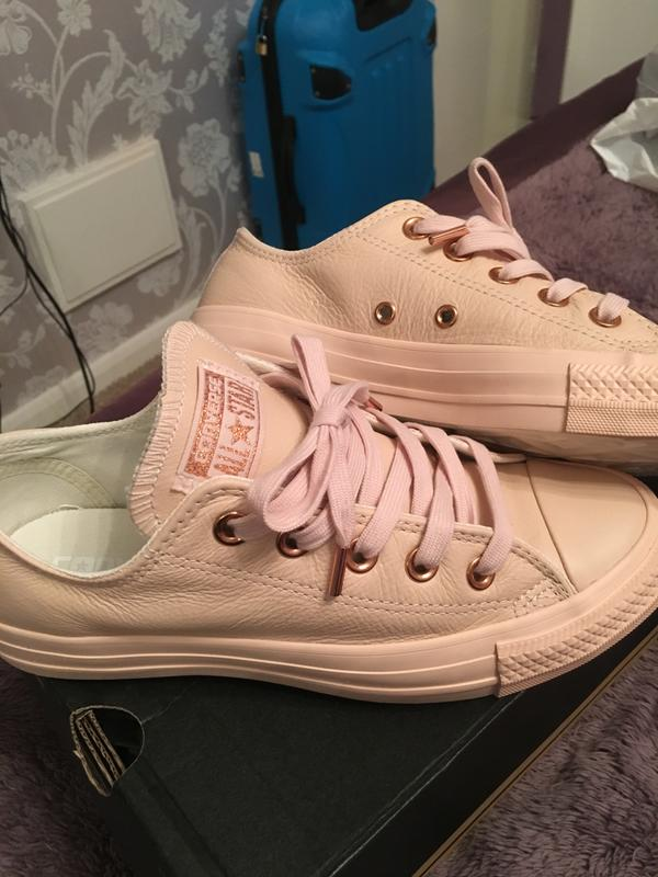 59e9ab3033ee Converse Allstar Low Lthr Pastel Rose Tan Rose Gold - Unisex Sports