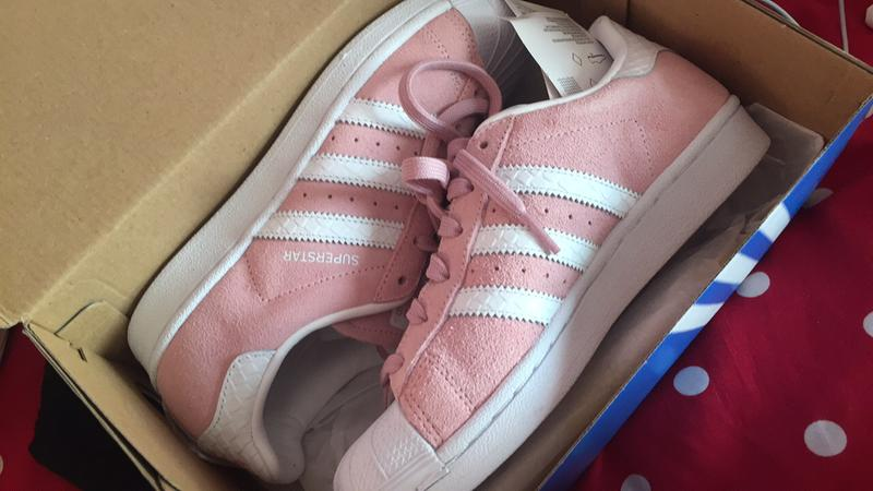 When they arrived. Originally posted on Adidas Superstar 1 PINK WHITE SNAKE 125b5397af3b