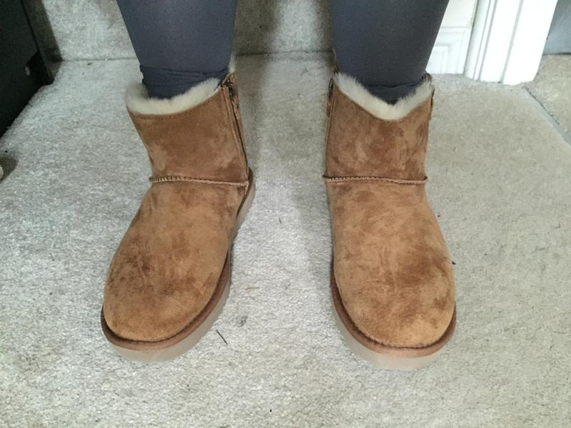 Review photo 2. Originally posted on UGG Classic Mini Double Zip CHESTNUT SUEDE