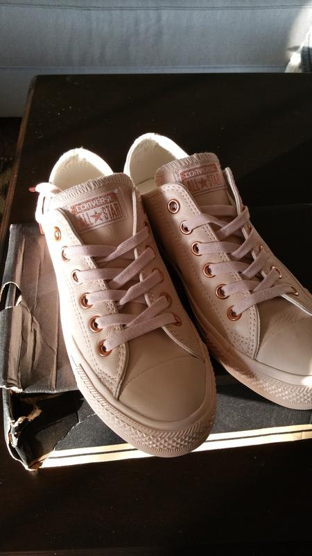 f2ff35b9ba3 Converse All Star Low Leather Pastel Rose Tan Rose Gold - Hers trainers