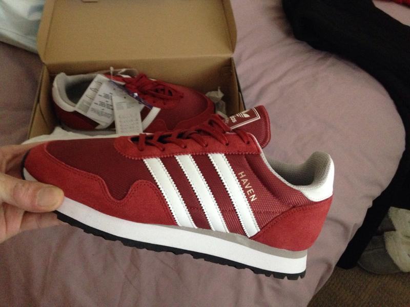 748536f23398 My new trainers. Originally posted on Adidas Haven MYSTERY RED WHITE