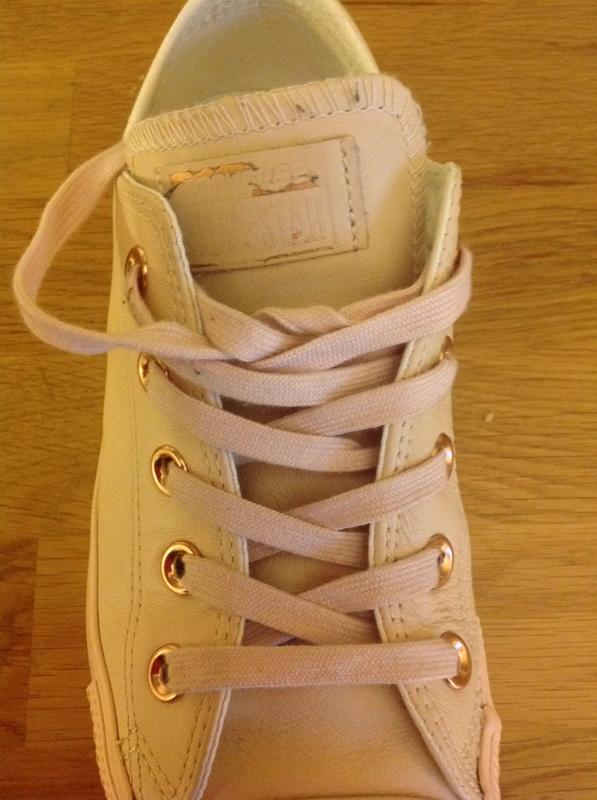 Converse All Star Low Leather Pastel Rose Tan Rose Gold - Hers trainers b54242b55
