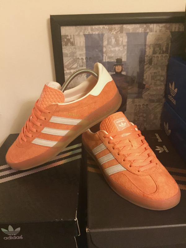 98d17f9df03 Adidas Gazelle Indoor St Tropic Melon Cream White Met Gold Sld - His ...