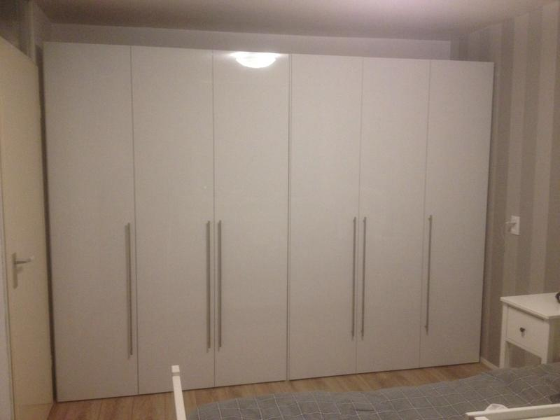 Leen Bakker Kast : Kledingkast bergen 3 deurs wit 219x147x59 5 cm