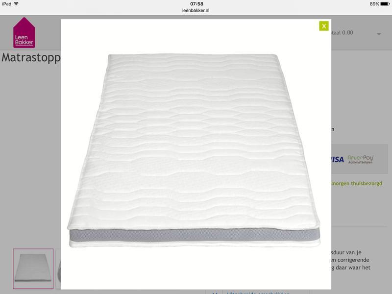 Prestige Matras Leenbakker : Topdekmatras deluxe 140x200x9 cm