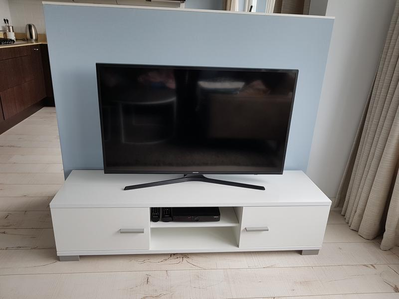 Tv meubel boston hoogglans wit 35x140x40 cm