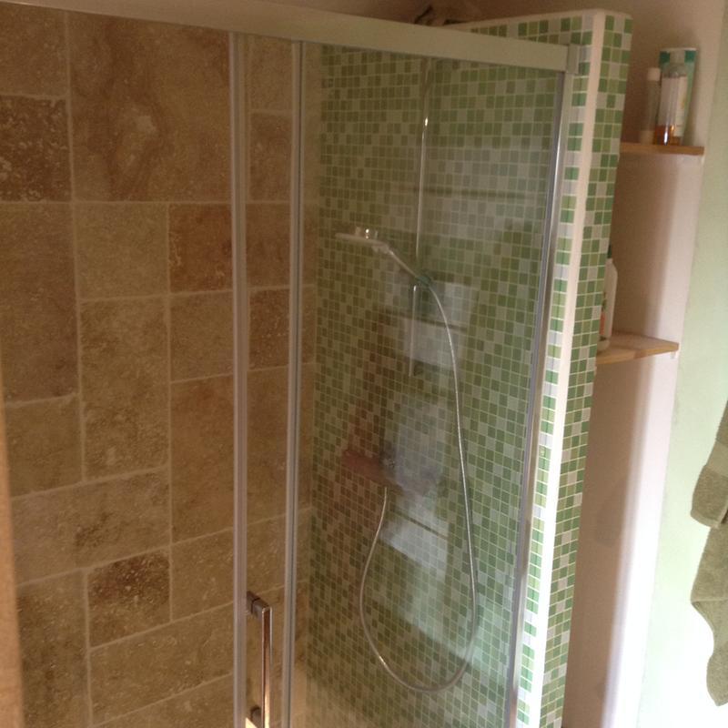 Porte de douche coulissante 120 cm transparent remix - La douche perigueux ...