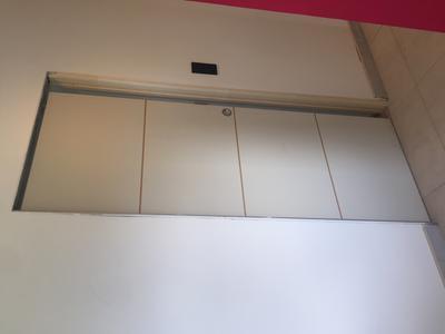 Porte coulissante isoplane milan x cm leroy for Poser une porte coulissante en applique