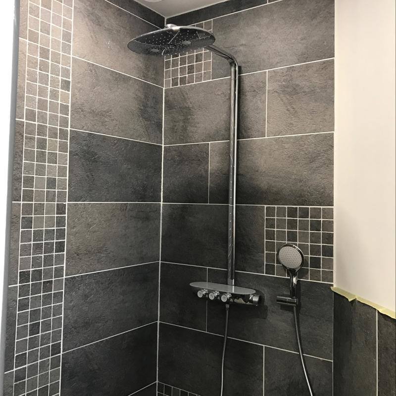carrelage sol et mur gris vestige l 30 x l 60 cm leroy merlin