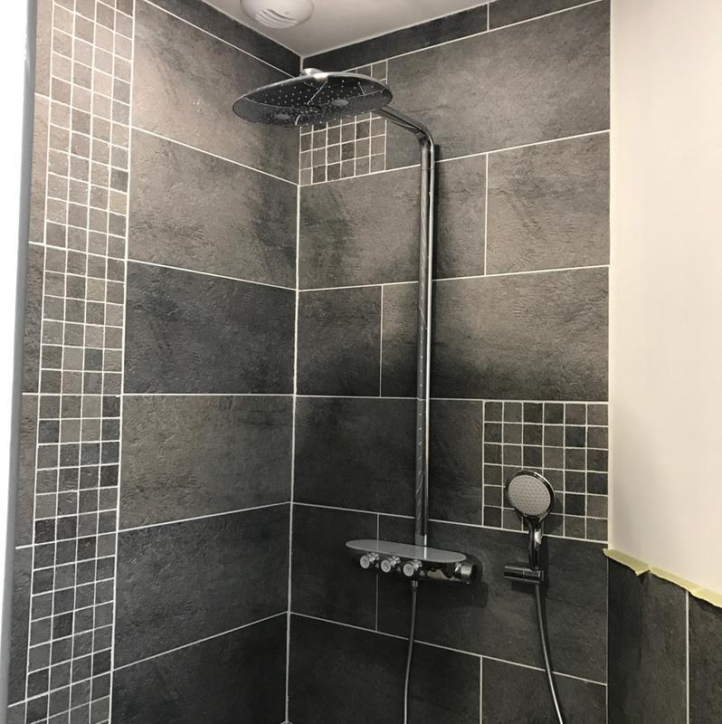 Colonne de douche avec robinetterie grohe smartcontrol - Colonne de douche grohe leroy merlin ...