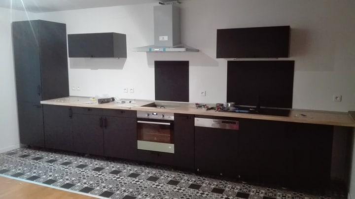 Meuble Bas De Cuisine Sofia Noir 1 Porte H 77 L 60 Cm X P 58 Cm