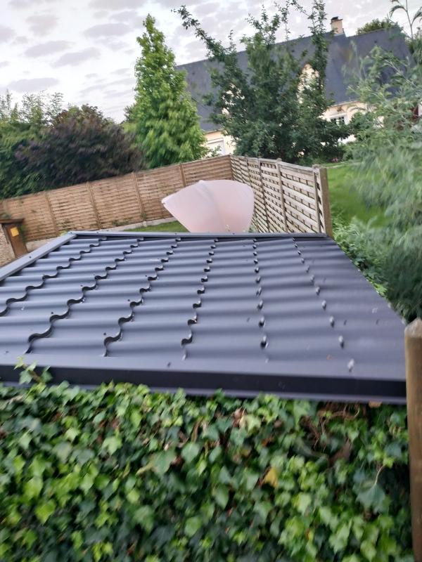 Plaque de toiture imitation tuile acier noir mat l.1.179 x L.0.7 m MOD'TUILE | Leroy Merlin