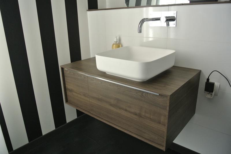 Meuble sous vasque x x cm neo frame for Meuble salle de bain neo leroy merlin