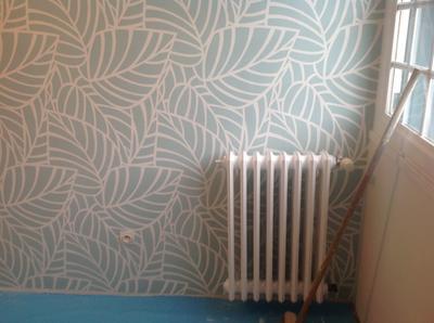Papier Peint Vinyle Botero Vert Leroy Merlin