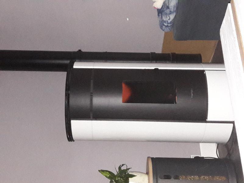 Poêle à Granulés Freepoint Globe Airtight Blanc 11 Kw