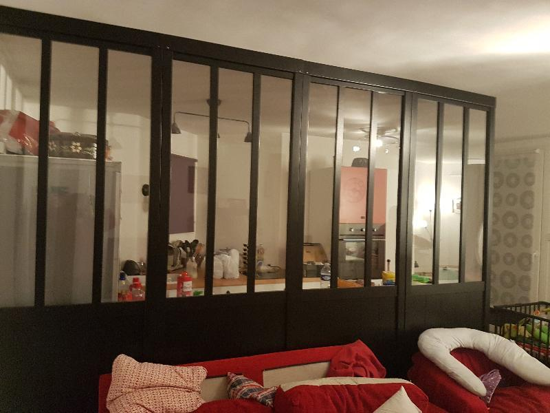 Cloison de s paration atelier m dium mdf rev tu feuille for Cloison amovible atelier noir