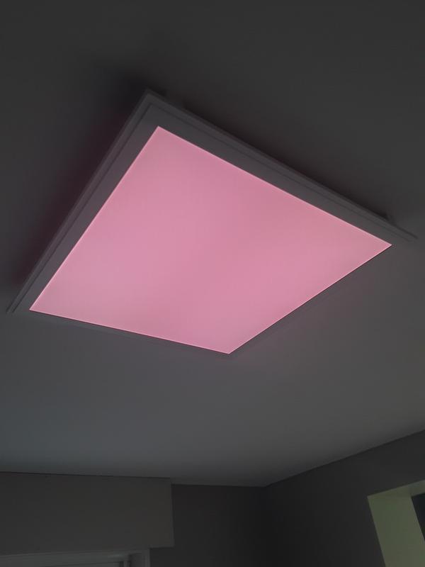 panneau led connect carr 60 x 60 cm 40 w blanc chaud froid et couleurs leroy merlin. Black Bedroom Furniture Sets. Home Design Ideas