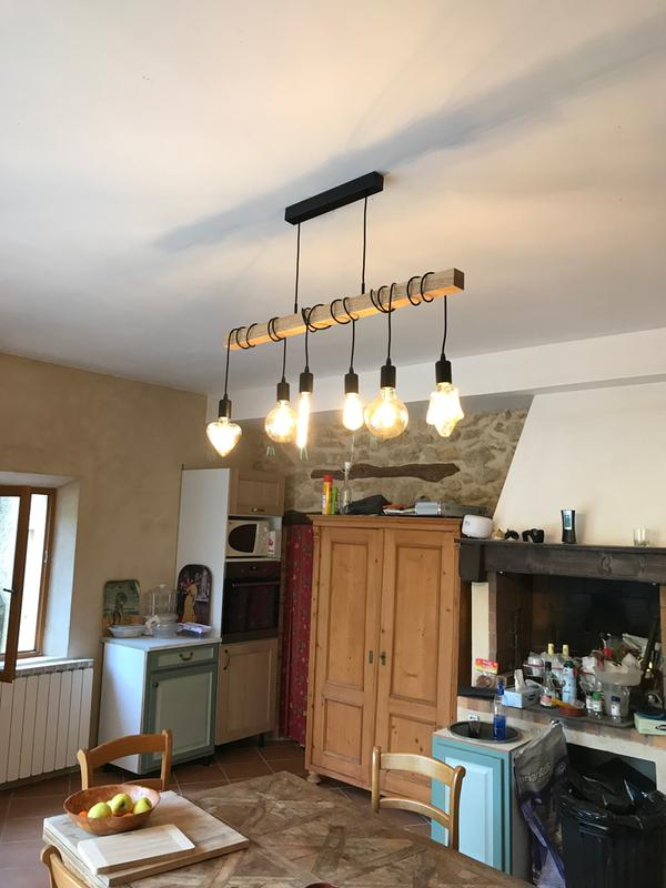 Suspension, nature acier inoxydable marron EGLO Townshend 6 lumière ... e63f6a2341b8