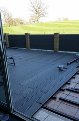 Lambourde pour terrasse composite primo l 2 2 m x l 5 cm x mm leroy - Lambourde composite leroy merlin ...