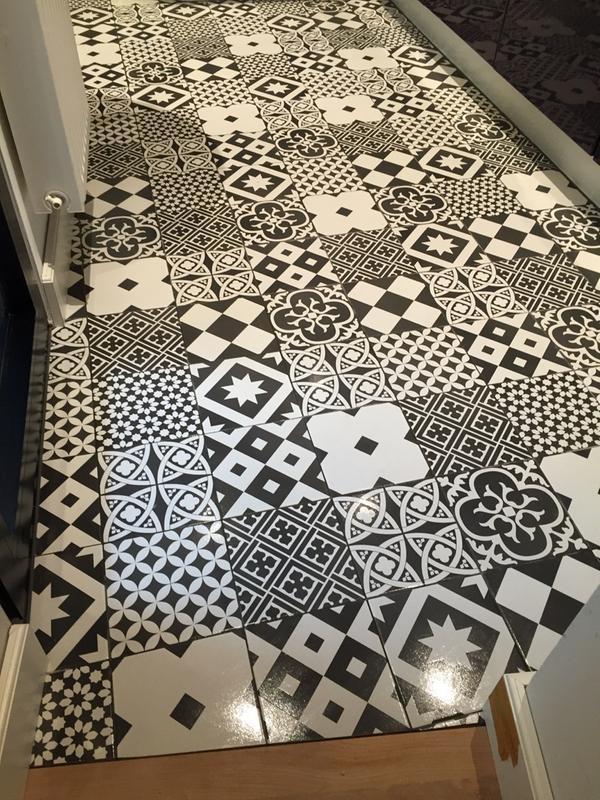 carrelage sol et mur noir et blanc effet ciment gatsby x cm leroy merlin. Black Bedroom Furniture Sets. Home Design Ideas