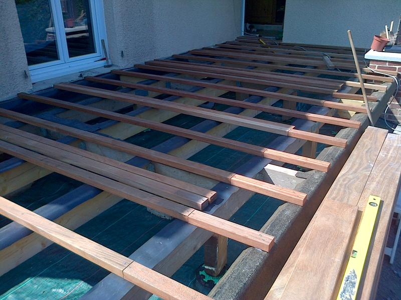 lambourde pour terrasse bois exotique naturel l 2 5 m x. Black Bedroom Furniture Sets. Home Design Ideas