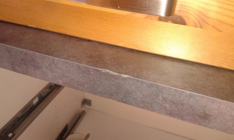 Préférence Plan de travail stratifié Effet métal vieilli Mat L.300 x P.65 cm  TH85