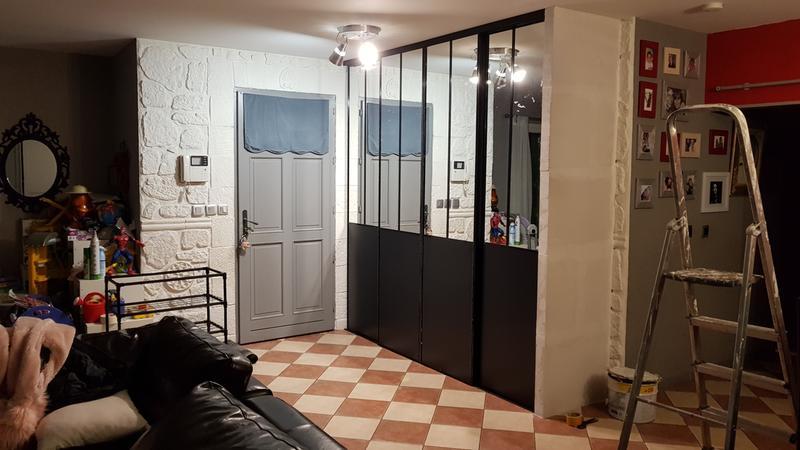 Lot de 2 portes de placard coulissante miroir noir - Largeur d une porte ...