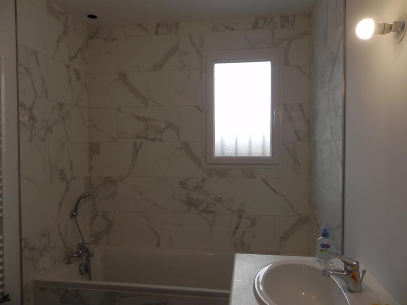 Fa ence mur blanc carrare murano x cm - Deposer du carrelage mural ...