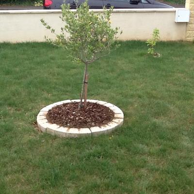 Bordure courbe seine pierre reconstitu e ton pierre for Bordure autour d un arbre