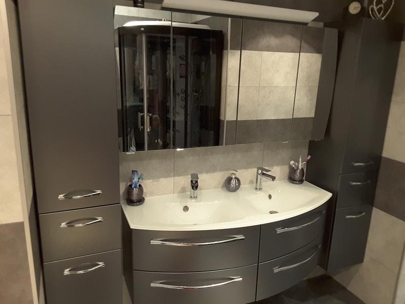 meuble sous vasque x x cm image. Black Bedroom Furniture Sets. Home Design Ideas