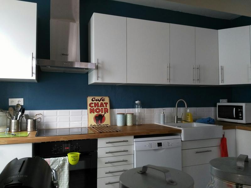 Peinture bleu baltique 1 luxens couleurs int rieures satin - Peinture bleu fjord ...