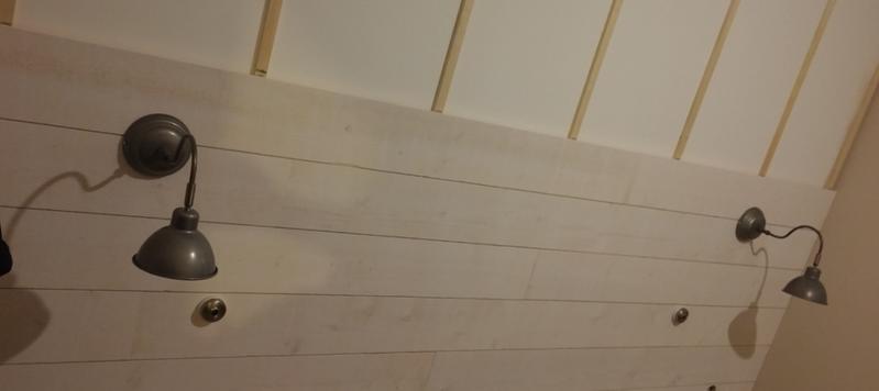 Lambris sapin brut de sciage blanc ARTENS, L 205 x l 18 cm, Ep 16 mm Leroy Merlin # Lambris Bois Plafond Grande Largeur