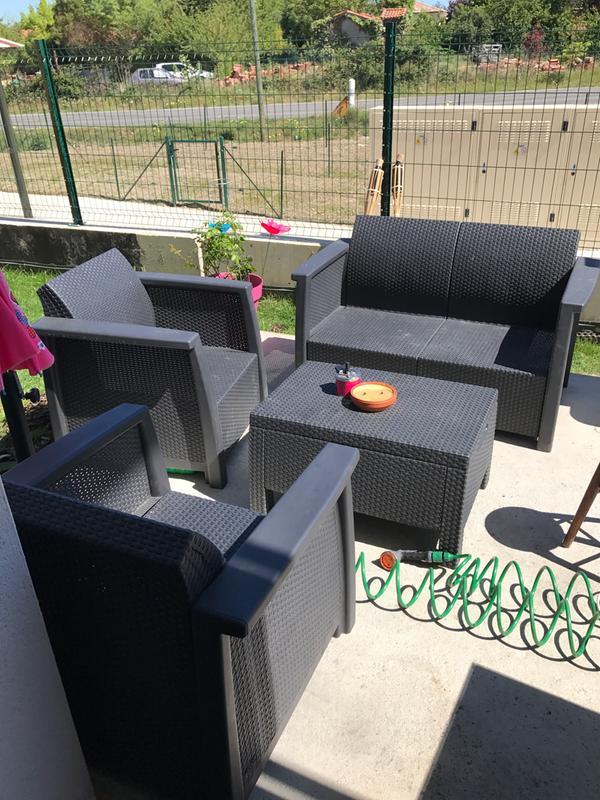 cheap dcouvrez les photos des with peinture pour salon de jardin en plastique leroy merlin. Black Bedroom Furniture Sets. Home Design Ideas