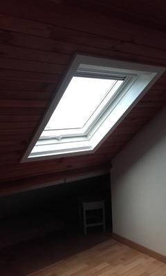 Velux bois polyur thane gpu mk04 confort par projection for Velux mk04 tout confort