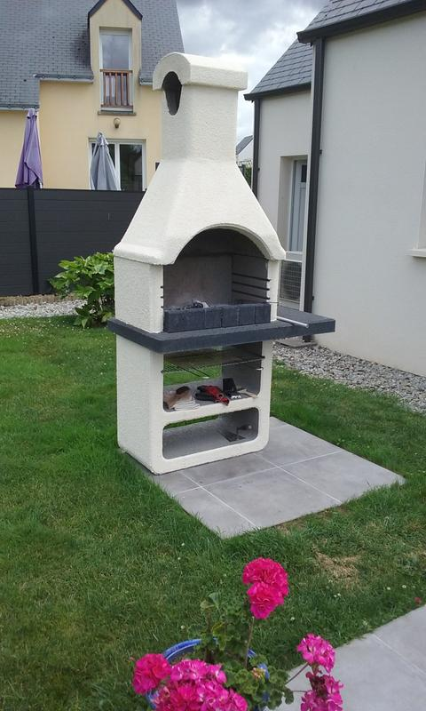 Barbecue En Bton Gris Clair  Crpir Ginevra L X L X H