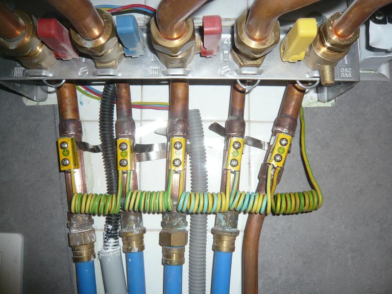 Lot de 2 colliers de liaison quipotentielle mm - Liaison equipotentielle salle de bain ...