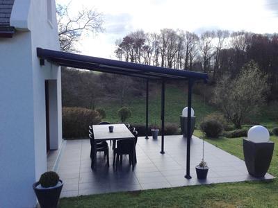 tonnelle adoss e polycarbonate azura aluminium gris anthracite 14 m leroy merlin. Black Bedroom Furniture Sets. Home Design Ideas